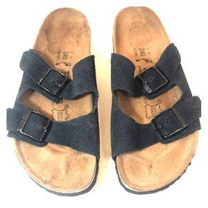 Birkenstock Betula Blue Suede Double-Strap Sandal